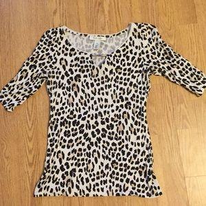 WHBM leopard print top